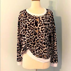 Leopard printed sweatshirt
